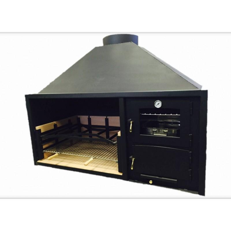 Barbacoa asador con horno chimeneas ruiz - Barbacoa con horno ...