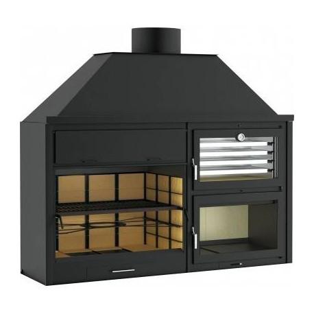 Barbacoa 200 interior y exterior chimeneas ruiz for Exterior y interior