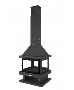 CHIMENEA METALICA CENTRAL FM C-204 K
